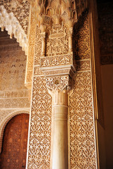 The Alhambra Palace in Granada, Islamic decoration