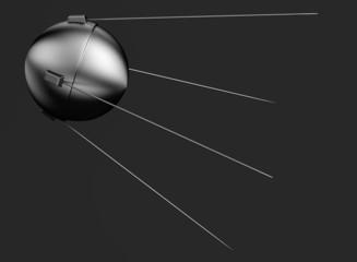 realistic 3d render of sputnik