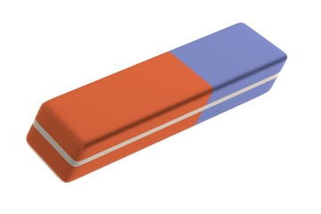 realistic 3d render of stationery tool - eraser