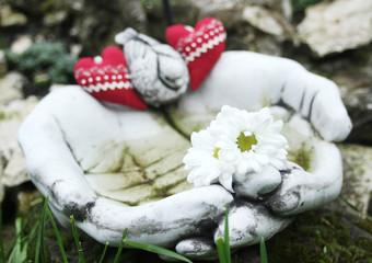 Dekoracja z sercami na dzień matki lub walentynki