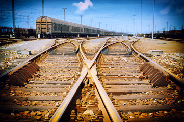 Rusty railway junction