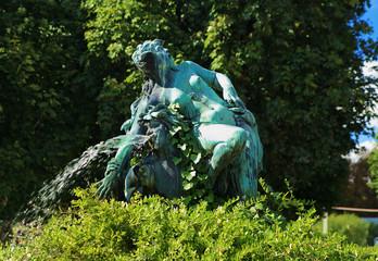 Fountain in the park Volksgarten in Vienna