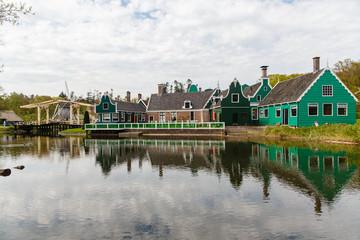 Zicht op de Zaanse Schans (openluchtmuseum, Arnhem)