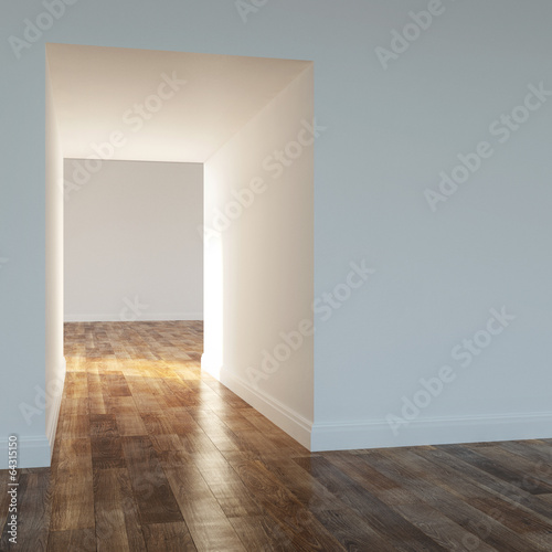 Empty room in a modern house version 2
