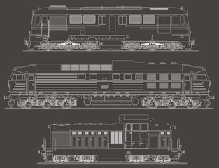 Locomotives set