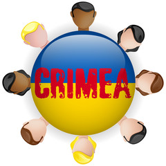 Ukraine and Russia conflict for Crimea Icon