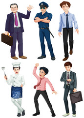 Different professions of men