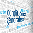 "Nuage de Tags ""CONDITIONS GENERALES"" (vente utilisation termes)"