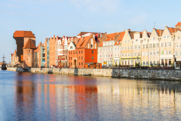 Medieval old town embankment, Gdansk