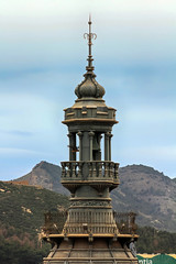 domes of churches in the city of Cartagena, Spain