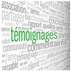 Nuage de Tags TEMOIGNAGES (avis choix clients blog utilisateurs)