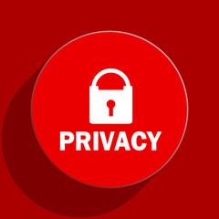 privacy flat vector icon