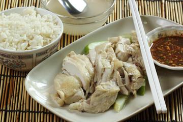 steam chicken on the plate