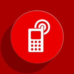phone flat vector icon