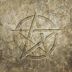 Pentagramm Steintafel