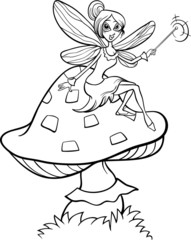 elf fairy fantasy cartoon coloring page