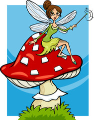 elf fairy fantasy cartoon illustration