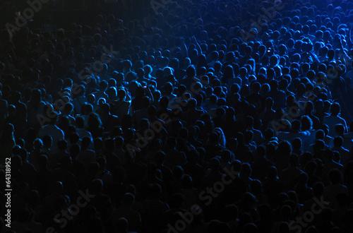 Leinwandbild Motiv Cheering crowd in a concert hall