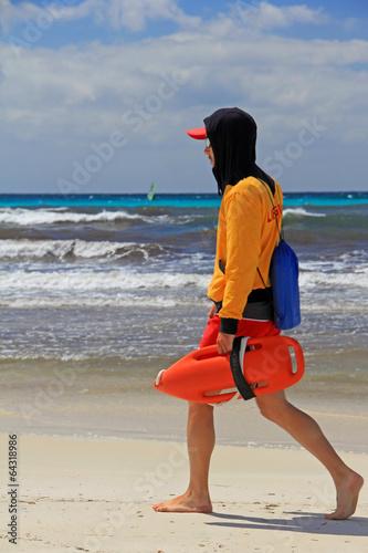 canvas print picture rettungsschwimmer auf mallorca