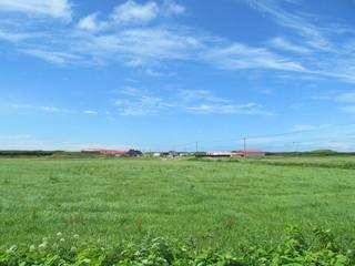 草原と小集落