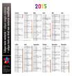 Calendrier 2015 (Congés, lunes, n° semaine)