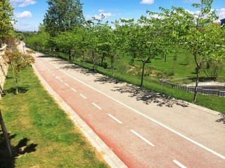 Park with bike road
