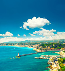 Mediterranean resort, Nice city, France, french riviera