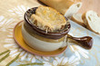 Crock of traditional French Onion Soup