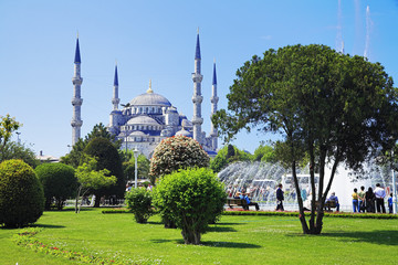 View of the Sultanahmet Mosque in Istanbul