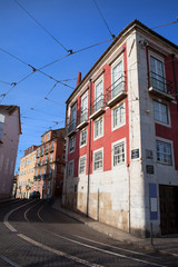 Houses in the Alfama District of Lisbon