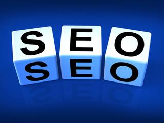 SEO Blocks Represent Search Engine Optimization Online
