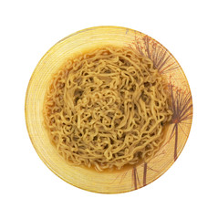 Crinkled Noodle Soup In Decorative Bowl