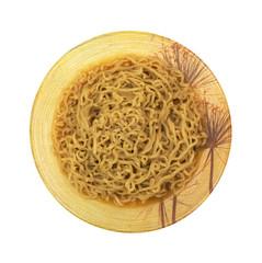 Crinkled Noodle Soup In Decorative Bowl