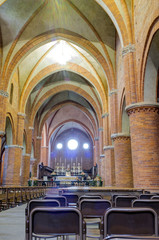 Abbazia di Morimondo internal view color image