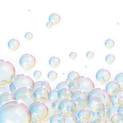 Vector Transparent Bubbles Background