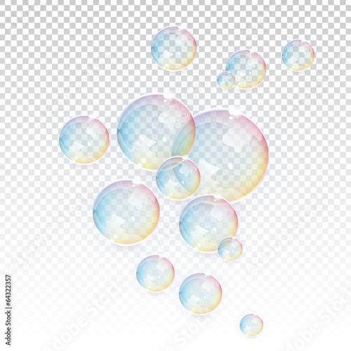 Zdjęcia na płótnie, fototapety, obrazy : Transparent Vector Bubbles