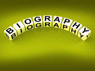 Biography Blocks Represent Writing a Memoir or Life Story