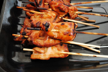 Delicious Teriyaki Marinated Chicken Cooked on the Grill