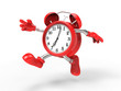 Leinwandbild Motiv character alarm clock run