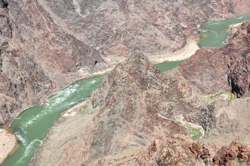 Colorado River from Plateau Point ,South Rim, Arizona