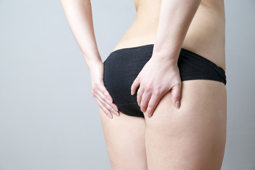 Buttocks massage against cellulite