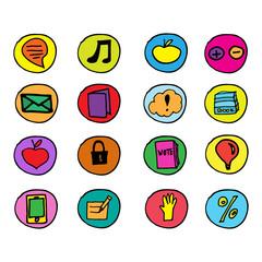 Набор иконок. Интернет, вебсайты, социальные сети