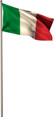 Digitally generated italy national flag
