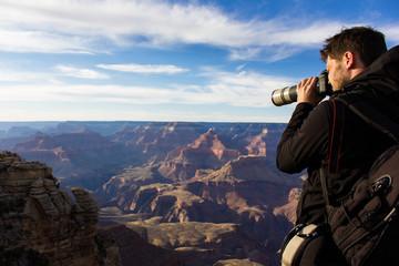 Fotograf im Grand Canyon, USA