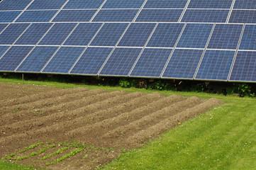 Solar panels in the garden 3