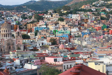 Colorful view of the city  Guanajuato, Mexico.