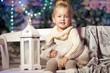 Winter little girl. Smiling  child. Cute kid.