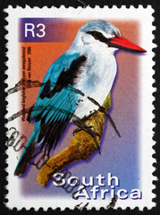 Postage stamp South Africa 2000 Woodland Kingfisher, Bird
