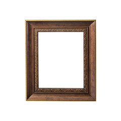 Vintage photo frame isolated on white background