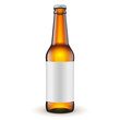 Glass Beer Brown Bottle With Label On White Background - 64325948